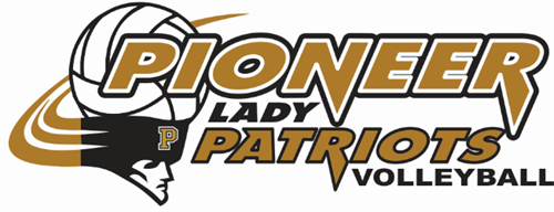 Pioneer Lady Patriots Volleyball logo