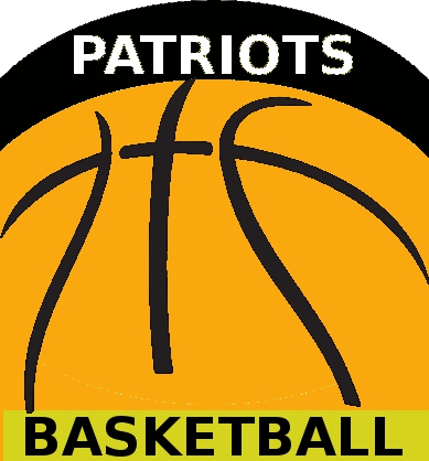 Banner for Patriots Basketball - an illustration of a basketball