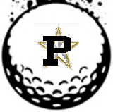 A logo of a golfball with a P