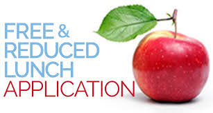 Free and Reduced Lunch Application with an apple